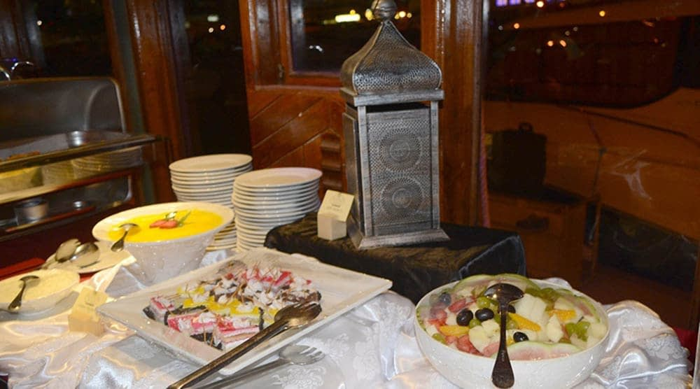 delicious food - dhow cruise dinner