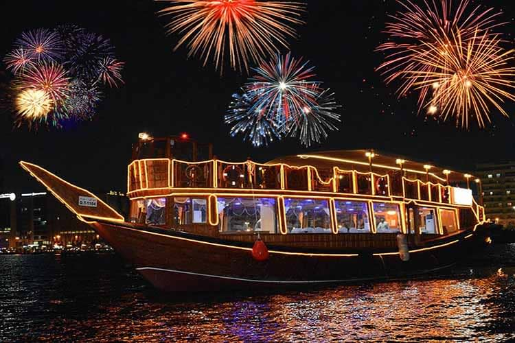 New Year's at the Sea in a Dhow
