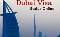 check dubai visa status online